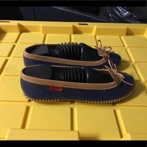 CHOOKA Navy/Tan Rubber Rain Duck Shoes Flats